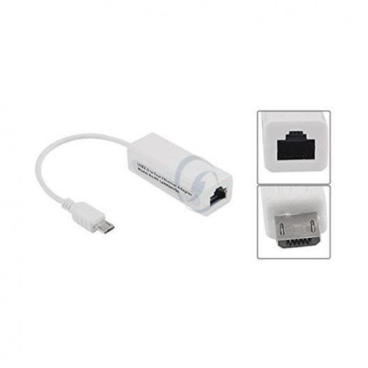 Adaptador mini USB 5 pinos LAN Ethernet RJ45 para Tablet PC