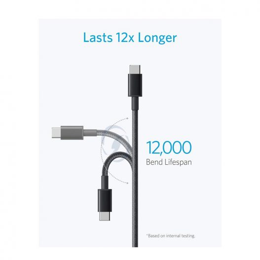 Cabo Anker USB-C para USB-A de Nylon Premium 1.8m B8173011