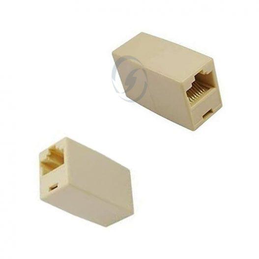 Conector de cabo Ethernet RJ45 (tipo F para F) e adaptador RJ45 para RJ11
