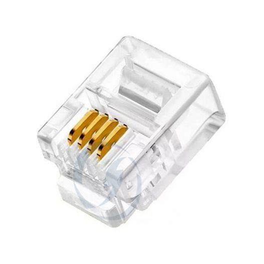 Conectores RJ11 4 Pinos
