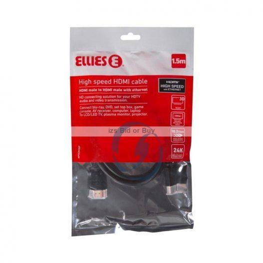 Ellies High Speed HDMI Cable 1.5 metros