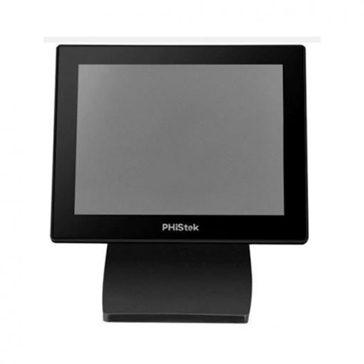 """PHiStek 8"""" LCD Monitor, USB, Black"""