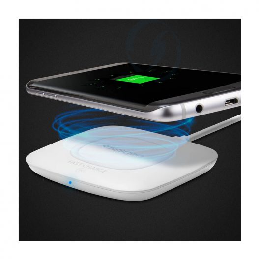 Spigen Essential F301W Qi Fast Charge Enabled Wireless Charger Charging Pad -