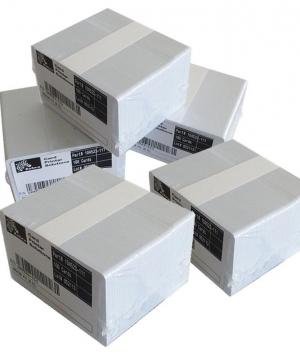 Cartões Zebra Premier (PVC) Branco