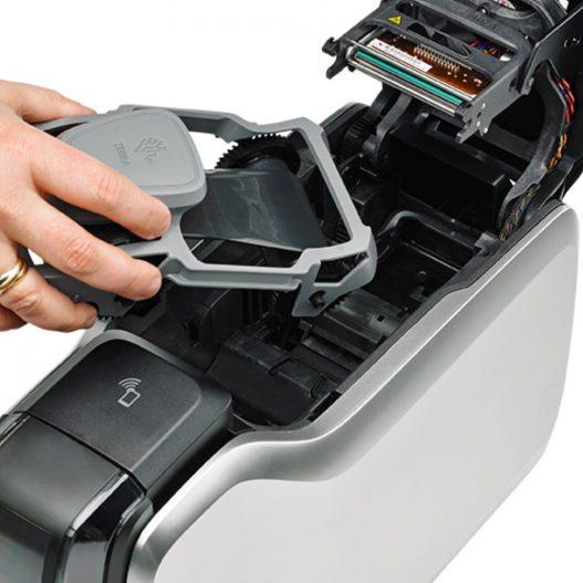Zebra ZC100 Thermal Label Card Printer nampula maputo mocambique silvermoz impressora termica cartoes pvc open