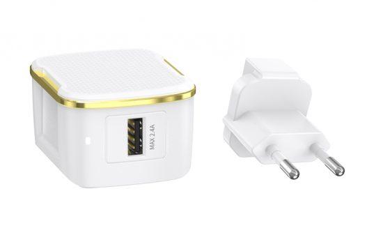 Charger carregador JOYROOM - L-A12S - 12W Single port travel charger (EU) nampula